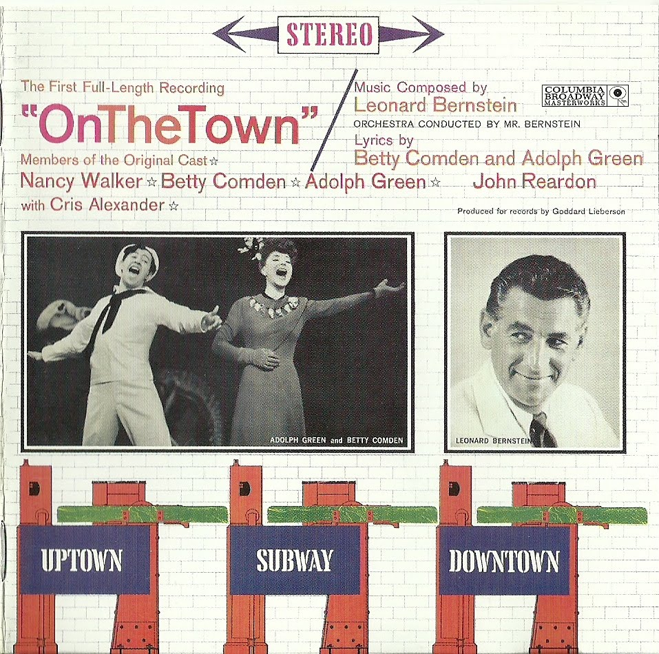 "Carátula del disco con el elenco original de ""On the Town"""